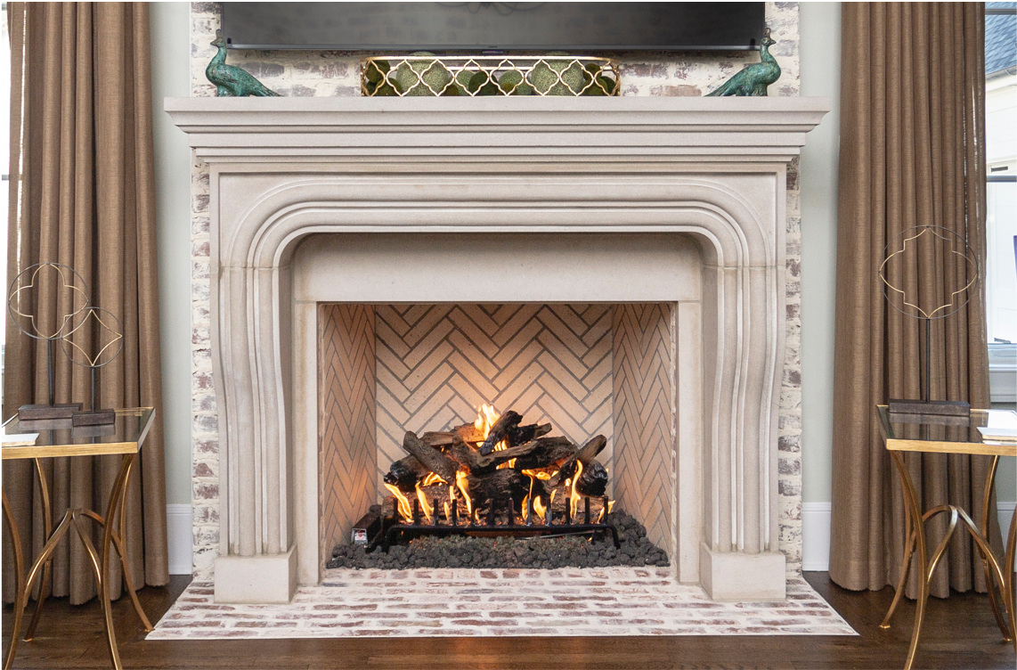 indoor Isokern fireplace in use in Memphis home