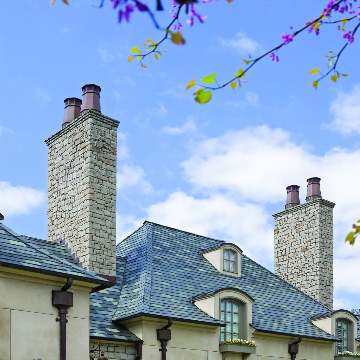 decorative chimney pots on memphis home